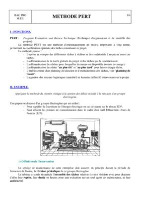 Methode mpm et pert pdf | b
