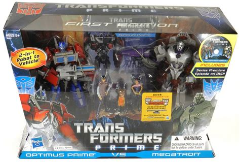 TFW's Transformers Prime First Edition Optimus Prime VS