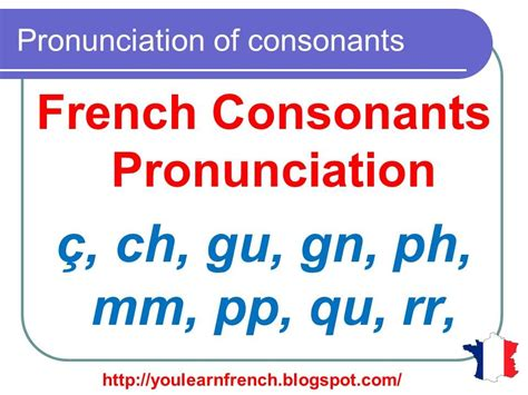 French Lesson 127 - Pronunciation of consonants in French