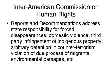 PPT - The Inter-American Human Rights System PowerPoint