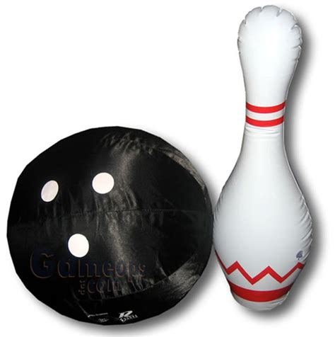 Inflatable Bowling Pins and Ball Set