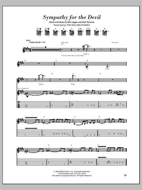 Sympathy For The Devil Sheet Music | The Rolling Stones