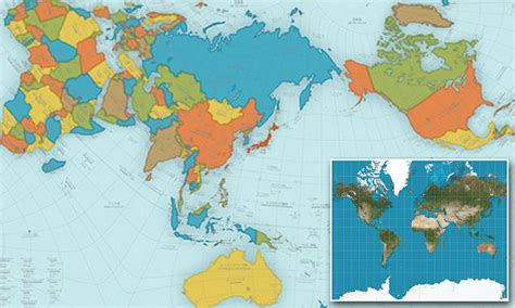 Japanese design flattens the Earth to show how big