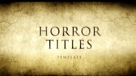 Horror Movie Titles - After Effects Template - YouTube