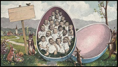 A Collection of 21 Creepy and Funny Vintage Easter Cards