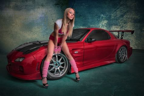 Mazda RX-7 & Hot Sexy Girls   #The Fappening
