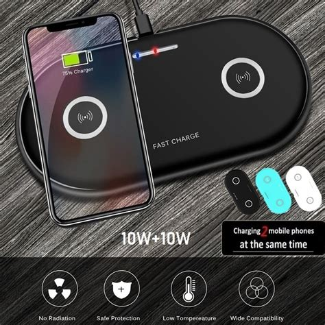 20W 2in1 Qi chargeur sans fil pour iphone 11 XS MAX X 8